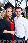 Denise O'Sullivan Beaufort, Killarney, graduated in Mental Health Nursing, from IT Tralee, on Friday morning last, at the Brandon Conference Centre, Tralee, pictured here with her fiancé John Payne.
