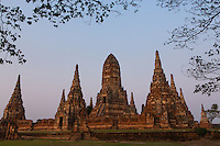 sunset in Ayutthaya, Thailand
