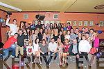 ENGAGEMENT; Kaevin  Naughton (seated 3rd from left) and Sandra Casey (3rd from right) who got engaged in Pert Australia last Christmas and on Saturday night their family and friends put on a surprise party for them as they officially announced their engagement.....
