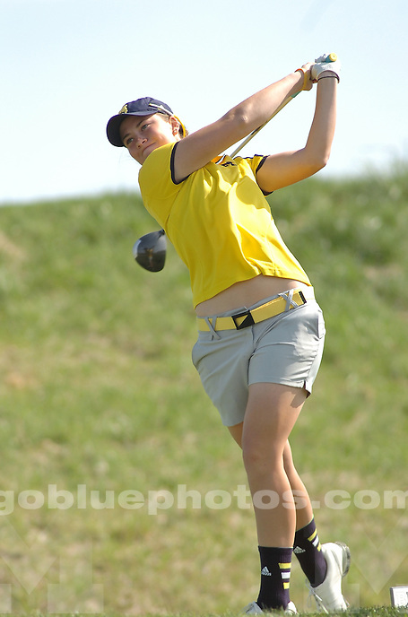 The University of Michigan women's golf team compete during the final round of the 2014 Big Ten Women's Golf Tournament in French Lick, IN. April 27, 2014