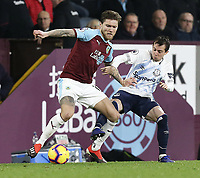 Burnley's Jeff Hendrick holds off the challenge from Everton's Bernard<br /> <br /> Photographer Rich Linley/CameraSport<br /> <br /> The Premier League - Burnley v Everton - Wednesday 26th December 2018 - Turf Moor - Burnley<br /> <br /> World Copyright &copy; 2018 CameraSport. All rights reserved. 43 Linden Ave. Countesthorpe. Leicester. England. LE8 5PG - Tel: +44 (0) 116 277 4147 - admin@camerasport.com - www.camerasport.com