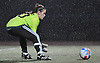 Megan Tornatore, North Shore goalie, secures a loose ball during the first of two varsity girls soccer all-star games pitting the Nassau County seniors against their Suffolk counterparts at Bethpage High School on Friday, Nov. 25, 2016. She posted a shutout and was named team MVP in Nassau's 1-0 win.