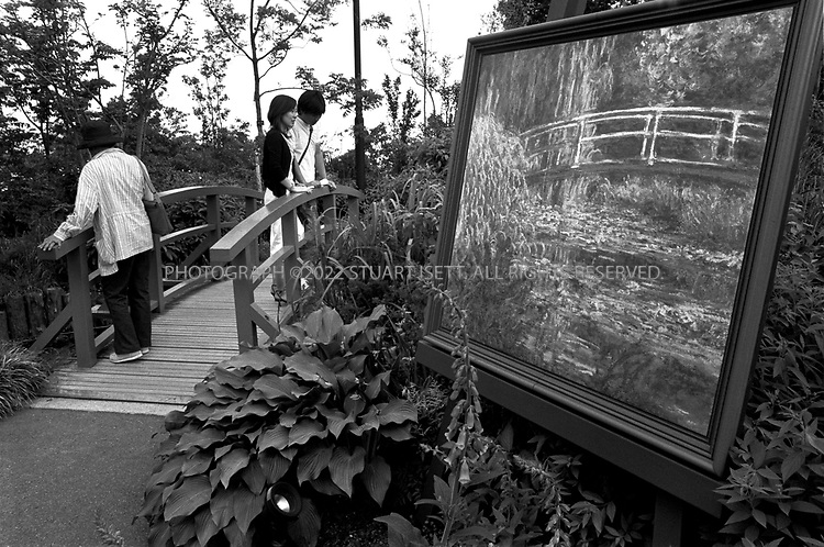 June, 2003--Kyoto, Japan..Reproduction  of Monet's Giverny lily pond on top of Mt. Hiei, birthplace of Japanese Buddhism....All photographs ©2003 Stuart Isett.All rights reserved.This image may not be reproduced without expressed written permission from Stuart Isett.