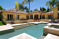 July 23, 2014_San Diego_ California_USA_|   The backyard and pool at a Fairbanks Ranch estate.  | _Mandatory Photo Credit: Photo by K.C. Alfred/UT San Diego/Copyright 2014 . . . .
