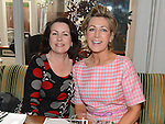 Mary Hoey and Geraldine Meegan at the Pink Santa lunch in the Westcourt hotel. Photo:Colin Bell/pressphotos.ie
