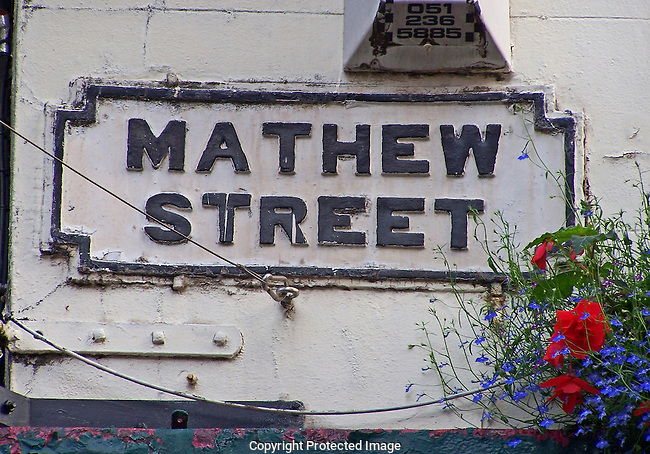 Mathew Street sign