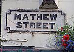 Mathew Street sign