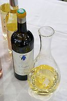 decanter and wine bottle domaine de la courtade porquerolles provence france