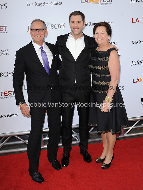 """Michael Lomenda and parents attends The Los Angeles Film Festival 2014 Closing Night Premiere of Warner bros. Pictures """"Jersey Boys"""" held at The Regal Cinemas L.A. Live in Los Angeles, California on June 19,2014                                                                               © 2014 Hollywood Press Agency"""