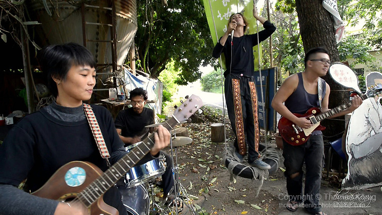 "Video still frame of the BENTO BAND Music Video ""A Piece Of Land) in Tainan County, Taiwan."