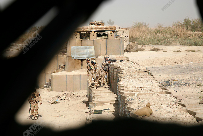 B Co. Royal Gurkha Rifles (1RGR) fighting the Taliban insurgents in Garmsir.Helmand, Afghanistan, November 2007.