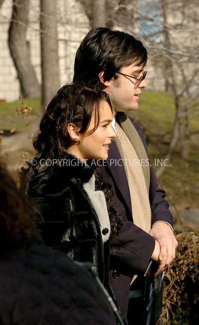 """WWW.ACEPIXS.COM . . . . .  ....NEW YORK, FEBRUARY 2, 2006....Lindsay Lohan and Jared Leto on Location for """"Chapter 27"""" in New York.....Please byline: AJ Sokalner - ACEPIXS.COM.... *** ***..Ace Pictures, Inc:  ..Philip Vaughan (212) 243-8787 or (646) 769 0430..e-mail: info@acepixs.com..web: http://www.acepixs.com"""