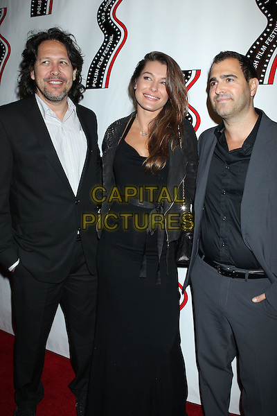 Natalia Tarnowska (c) &amp; guests<br /> 13th annual Polish film festival at American Cinematheque's Egyptian Theatre, Hollywood, California, USA.<br /> 9th October 2012<br /> full length black jacket dress suit white shirt grey gray<br /> CAP/ADM/RE<br /> &copy;Russ Elliot/AdMedia/Capital Pictures