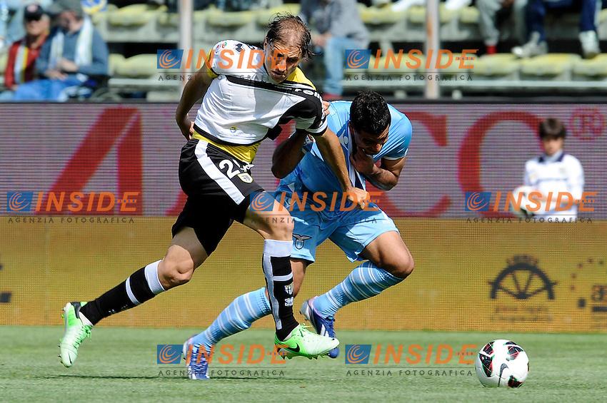 Alejandro Gabriel Paletta Parma, Ederson Lazio .Parma 28/04/2013 Stadio Ennio Tardini.Football Calcio Serie A 2012/13.Parma Vs Lazio 0-0.Foto Insidefoto