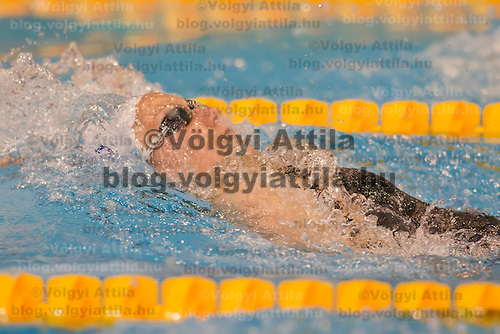 Alexianne Castel of France competes in the Women's 200m Backstroke final of the 31th European Swimming Championships in Debrecen, Hungary on May 22, 2012. ATTILA VOLGYI