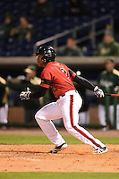 Louisville Cardinals outfielder Corey Ray (2) at bat during a game against the USF Bulls on February 14, 2015 at Bright House Field in Clearwater, Florida.  Louisville defeated USF 7-3.  (Mike Janes/Four Seam Images)