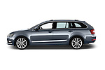 Car Driver side profile view of a 2017 Skoda Octavia Style 5 Door Wagon Side View
