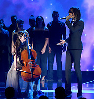 MOUNTAIN VIEW, CA - DECEMBER 3: Wiz Khalifa and Nana Ou-Yang performs on the 6th Annual Breakthrough Prize at NASA Ames Research Center on December 3, 2017 in Mountain View, California. (Photo by Frank Micelotta/NatGeo/PictureGroup)