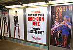 "Brendon Urie unveils His Subway Billboards For Broadway's ""Kinky Boots""  at the 42nd Street Times Square Subway Station on July 20, 2017 in New York City."