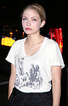 Tavi Gevinson leaving the stage door after the opening night performance of 'This Is Our Youth' at the Cort Theatre on September 11, 2014 in New York City.