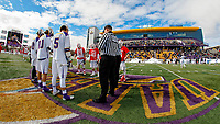 University at Albany Men's Lacrosse defeats Cornell 11-9 on Mar 4 at Casey Stadium.  Pregame coin toss.