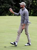 Daniel Pearce wins the Charles Tour Augusta Funds Management Ngamotu Classic, Ngamotu Golf Course, New Plymouth, New Zealand, Sunday 15 October 2017.  Photo: Simon Watts/www.bwmedia.co.nz