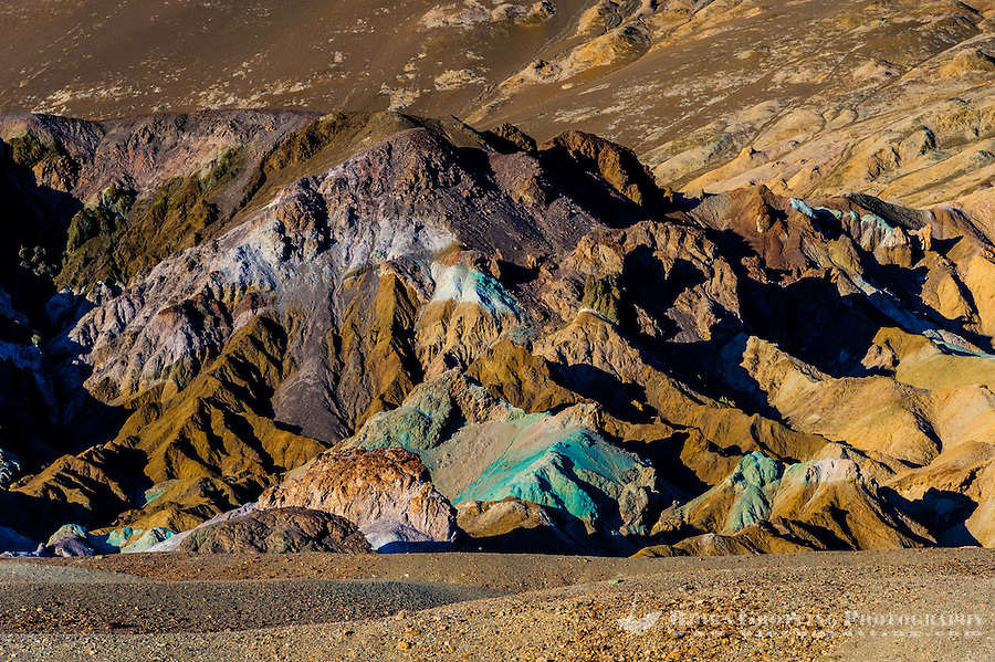 United States, California, Death Valley. Artist's Drive at the foot of the Black Mountains. Artist's Palette is famous for the various colors of rock.