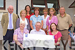 Cromane NS board of management who presented the school with a donation of EUR2,000 in the school on Friday front row l-r: Margaret Foley, Patrick O'Shea, Emer Dourieu. Back row: Seamus Shaugnessy Principal, Mary Roche, Kim Mahon, Pauline O'Connor, Marian Cronin, Ann Foley and Sean Roche