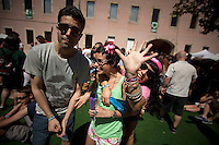 Visitors of the 19th Advanced Music and Multimedia Art International Sonar Festival, in Barcelona, Spain, Friday, June 15, 2012. NORTEPHOTO.COM
