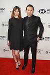 Emily Mortimer and Alessandro Nivola arrive at the U.S. premiere of the movie Disobedience, on April 22 2018, during the Tribeca Film Festival in New York City.