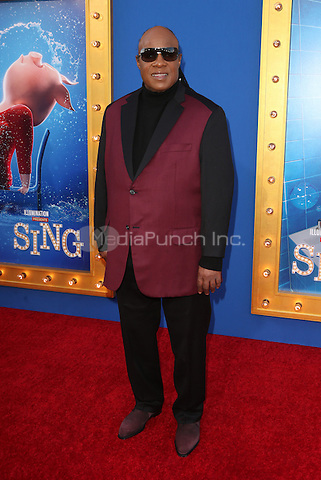 "Los Angeles, CA - DECEMBER 03: Stevie Wonder, At Premiere Of Universal Pictures' ""Sing"" At Pacific Theatres at the Microsoft Theater, California on December 03, 2016. Credit: Faye Sadou/MediaPunch"