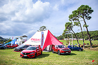 Honda New Zealand's display area. 2018 Leadfoot Festival at Rod and Shelly Millen's private grounds at Leadfoot Ranch near Hahei on the Coromandel Peninsular, New Zealand. Copyright Photo: Libby Law Photography