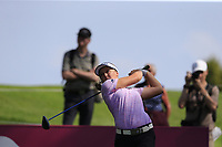 Brooke M. Henderson (USA) tees off the 7th tee during Thursday's Round 1 of The Evian Championship 2018, held at the Evian Resort Golf Club, Evian-les-Bains, France. 13th September 2018.<br /> Picture: Eoin Clarke | Golffile<br /> <br /> <br /> All photos usage must carry mandatory copyright credit (© Golffile | Eoin Clarke)