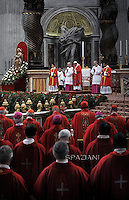 Pope Francis   during  the holy mass of Pentecost Sunday in Saint Peter's Basilica at the Vatican on 24 May 2015