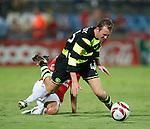 Aiden McGeady fouled by Avihay Yadin