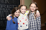 Aviva Winick, Ava Briglia and Willow McCarthy attend the cast celebration for their 1500 performance on Broadway at the Shubert Theater on November 16, 2016 in New York City.