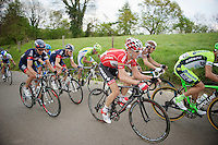 Bart De Clercq (BEL/Lotto-Belisol) up the &lsquo;steepest climb&rsquo; in Holland: Keutenberg (max 22%)<br /> <br /> Amstel Gold Race 2014
