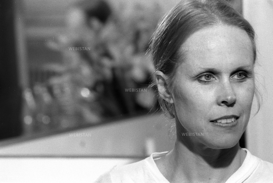 07/04/1989. France. La danseuse et chorégraphe américaine Carolyn Carlson. France. American ballerina and choreographer Carolyn Carlson.