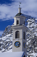 Europe/Suisse/Engadine/Sils Maria: Le clocher de l'église