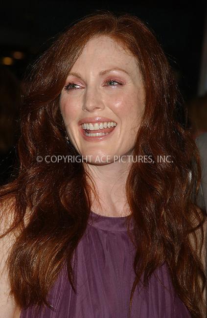 "WWW.ACEPIXS.COM . . . . . ....NEW YORK, AUGUST 7, 2006....Julianne Moore at the ""Trust the Man"" New York Premiere.....Please byline: KRISTIN CALLAHAN - ACEPIXS.COM.. . . . . . ..Ace Pictures, Inc:  ..(212) 243-8787 or (646) 679 0430..e-mail: picturedesk@acepixs.com..web: http://www.acepixs.com"