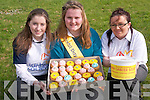 Students at Mercy Mounthawk who organised a cake sale for Daffodil Day. .L-R Rebecca Coffey, Cathy Stack and Kate Boyd.