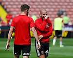 Samir Carruthers of Sheffield Utd warms up during the Championship match at Bramall Lane, Sheffield. Picture date 26th August 2017. Picture credit should read: Simon Bellis/Sportimage
