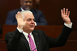 Nevada Gov. Steve Sisolak waves to the crowd after delivering his State of the State address to the Legislature in Carson City, Nev., on Wednesday, Jan. 16, 2019. (Cathleen Allison/Las Vegas Review-Journal)