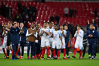 The England squad applaud the fans at the final whistle <br /> <br /> Photographer Craig Mercer/CameraSport<br /> <br /> FIFA World Cup Qualifying - European Region - Group F - England v Solvenia - Thursday 5th October 2017 - Wembley Stadium - London<br /> <br /> World Copyright &copy; 2017 CameraSport. All rights reserved. 43 Linden Ave. Countesthorpe. Leicester. England. LE8 5PG - Tel: +44 (0) 116 277 4147 - admin@camerasport.com - www.camerasport.com