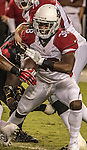 Arizona Cardinals running back Andre Ellington (38) attempts to get loose on Thursday, October 06, 2016 at Levis Stadium in Santa Clara, California. The Cardinals defeated the 49ers 33-21.