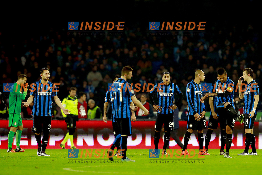 delusione Inter, dejection  <br /> Napoli 30-11-2015 Stadio San Paolo <br /> Football Calcio Serie A 2015/2016 Napoli - Inter<br /> Foto Cesare Purini / Insidefoto