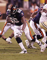 D'Brickashaw Ferguson-linebacker for UVa football. Photo/Andrew Shurtleff