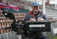 BT Sports Cameraman getting ready for todays game<br /> <br /> Photographer Rachel Holborn/CameraSport<br /> <br /> Anglo-Welsh Cup Final - Exeter Chiefs v Leicester Tigers - Sunday 19th March 2017 - The Stoop - London<br /> <br /> World Copyright &copy; 2017 CameraSport. All rights reserved. 43 Linden Ave. Countesthorpe. Leicester. England. LE8 5PG - Tel: +44 (0) 116 277 4147 - admin@camerasport.com - www.camerasport.com