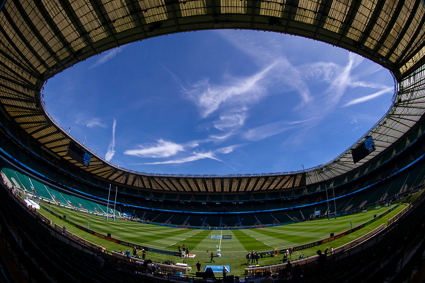 A general view of Twickenham, home of England Rugby<br /> <br /> Photographer Bob Bradford/CameraSport<br /> <br /> Gallagher Premiership Final - Exeter Chiefs v Saracens - Saturday 1st June  2018 - Twickenham Stadium - London<br /> <br /> World Copyright © 2019 CameraSport. All rights reserved. 43 Linden Ave. Countesthorpe. Leicester. England. LE8 5PG - Tel: +44 (0) 116 277 4147 - admin@camerasport.com - www.camerasport.com