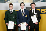Boys Badminton finalists Ethan Haggo, Kevin Dennerly-Minturn & Luke Charlesworth. ASB College Sport Young Sportperson of the Year Awards 2007 held at Eden Park on November 15th, 2007.